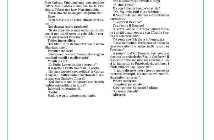INTERVISTA BANDITESCA