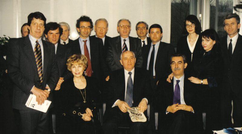 Intorno al 2002 con Gorbaciov e Raissa Maximovna